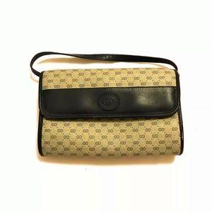Vintage 90s Gucci GG Logo Monogram Leather Bag